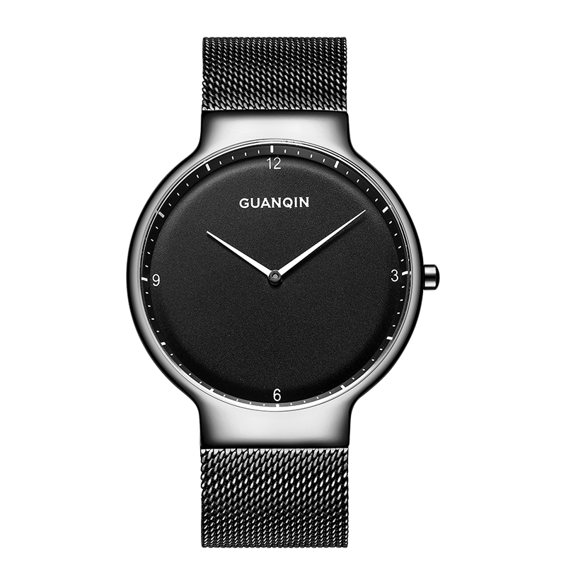 GUANQIN GS19060 watches men luxury brand Men Business Stainless Steel Waterproof Quartz Wrist Watch relogio masculino цена