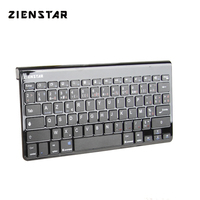 Zienstar AZERTY French Letter Ultra Slim Wireless Keyboard  Bluetooth 3.0 for Ipad MACBOOK LAPTOP Computer PC and Android Tablet