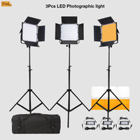 3 шт. светодиодный фотографического заполняющий свет штатив Pixel K80 Беспроводной микрофильмов Свадебные фильм дистанционного огни одного цв