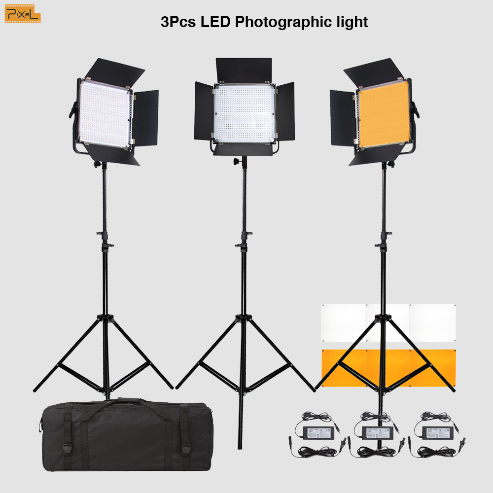 3 Stks LED Fotografisch licht Invullicht statief Pixel K80 Draadloze - Camera en foto