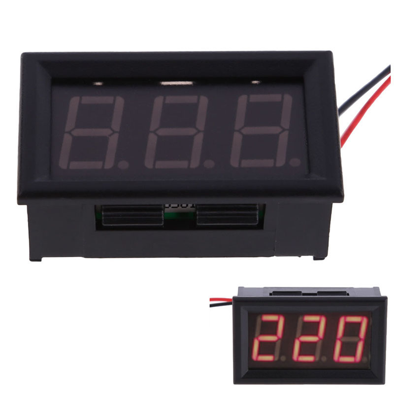 YB27A LED AC 60-300V Digital Voltmeter Home Use Voltage Display w/ 2 Wires  вольтметр vakind yb27a led ac60 300 2 tae 76553 01
