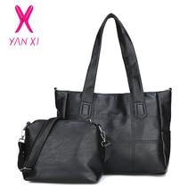 YANXI High Quality PU Leather Women Shoulder Bags 2 Sets Famous Brand Designer Ladies Messenger Bags Women's Handbag