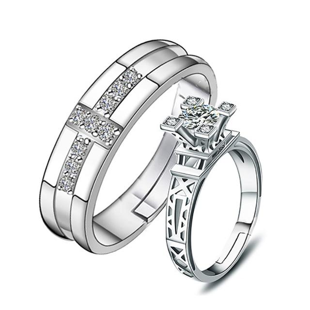 Aliexpresscom Buy Eiffel Tower Wedding Rings for Women White