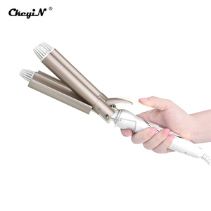 Image 5 - Professional 3 Barrels Big Waver Wave Electric Hair Curlers Rollers Three pipe joint Ceramic Triple Barrel Hair Curling Iron S34