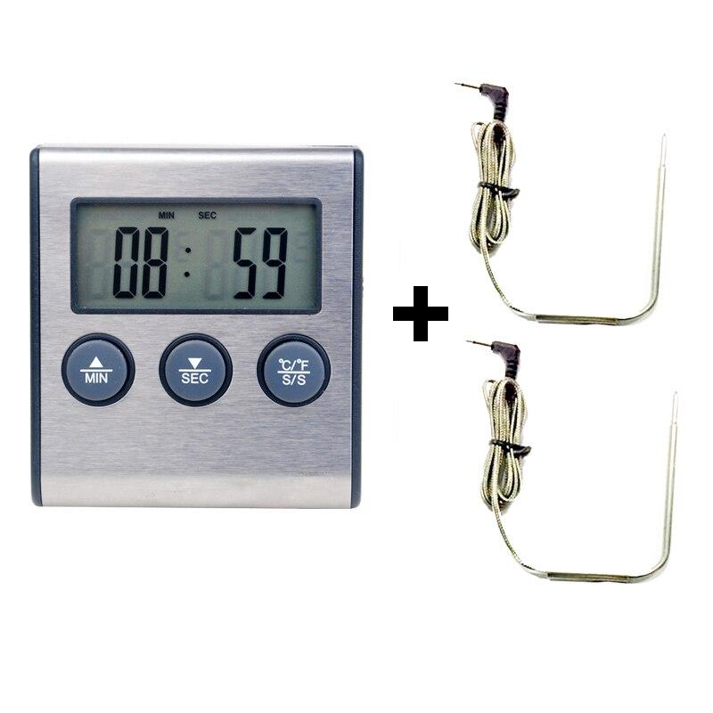 Angemessen Digitale Ofen Thermometer Küche Lebensmittel Kochen Grillen Fleisch Bbq Thermometer Und Timer Wasser Milch Wein Flüssigkeit Temperaturfühler
