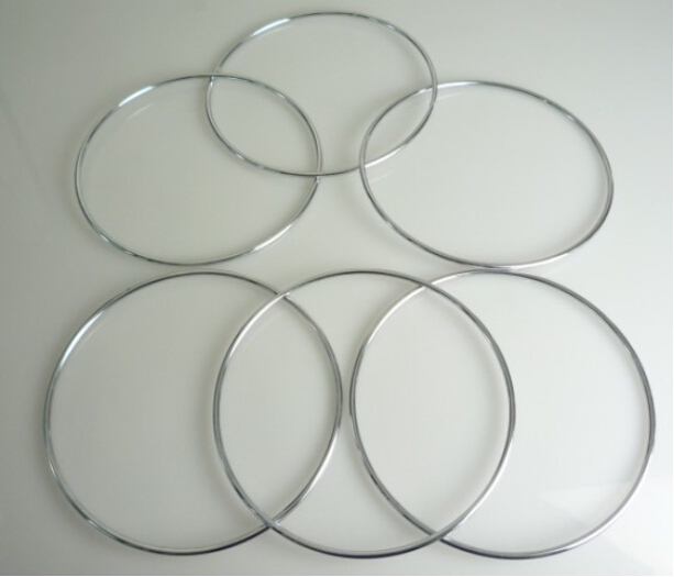 Chinese Linking Rings 6 Set (Diamter 19.5cm) - Magic Tricks,Gimmick,Stage ,Illusions,Accessories,Comedy