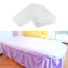 10 Pieces Non woven Disposable Massage Table Sheet Bed Cover Waterproof White