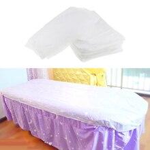 10 piezas no tejidas desechables Tabla de masaje con sábana cubierta de cama impermeable blanco
