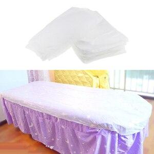 Image 1 - 10 חתיכות שאינו ארוג חד פעמי עיסוי שולחן גיליון מיטת כיסוי עמיד למים לבן