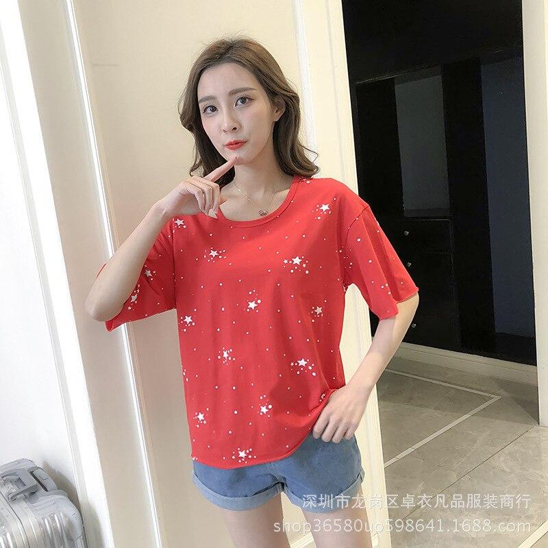 Tops Mujer Casual sash manga corta Camiseta 2018 nueva llegada elástico verano fresco camisa