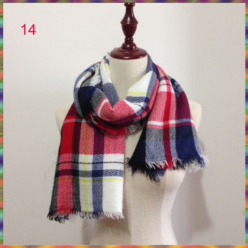 New 2018 Winter Children's Cashmere tartan plaid Scarf Kids scarves Boys Girls Designer Acrylic warm Bufandas blanket Shawls