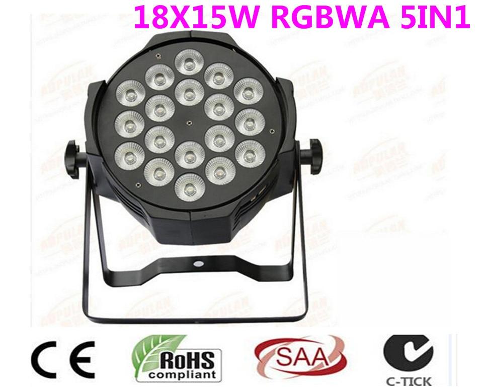 12 PZ 18x15 W Ha Condotto La Luce Par RGBWA 5in1CREE LED Par LED di Lusso DMX 8 Canali Tv Led Par Luci цена