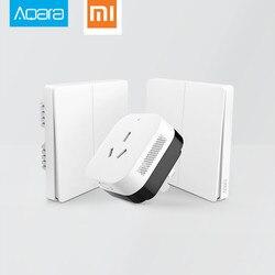 2017 Xiaomi مدخل منزل ذكي 3 ، Aqara إضاءة ذكية التحكم زيجبي/Wifi اللاسلكية مفتاح و جدار التبديل عبر Smarphone التطبيق عن
