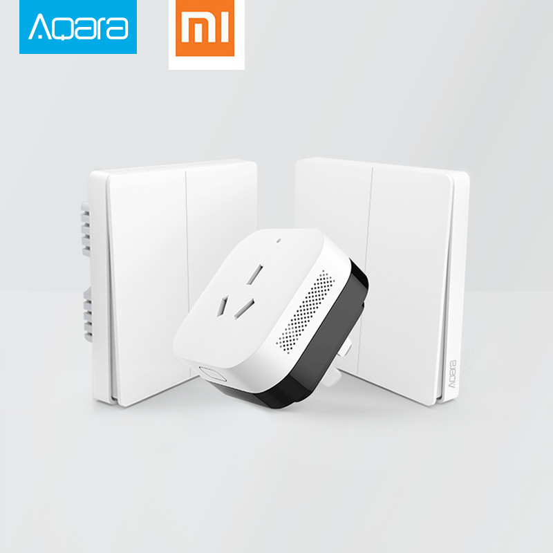 2017 Xiaomi Smart Home Gateway 3, Aqara Smart Light Control ZiGBee / Wifi Trådlös nyckel och väggbrytare Via Smarphone APP Remote