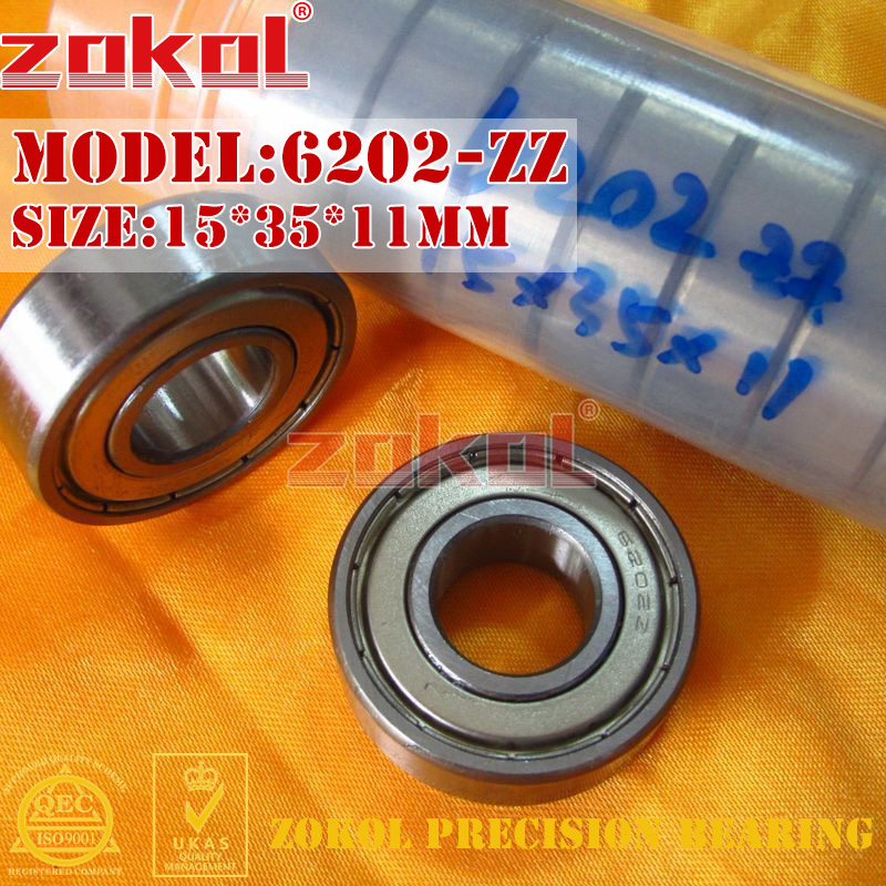 ZOKOL 6202zz Bearing 6202 ZZ 2RS 6202RS Z1 Z3V3 S6202ZZ Deep Groove Ball Bearing 15*35*11mm