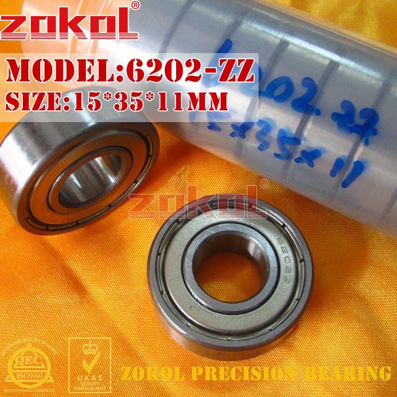ZOKOL 6202zz Bearing 6202 ZZ 2RS 6202RS Z1 Z3V3 S6202ZZ Deep Groove Ball Bearing 15*35*11mm