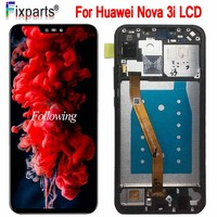 Original Huawei Nova 3i LCD Display Screen 6.3 Touch Screen Digitizer Assembly Replacement INE LX2 Display Huawei Nova 3i LCD