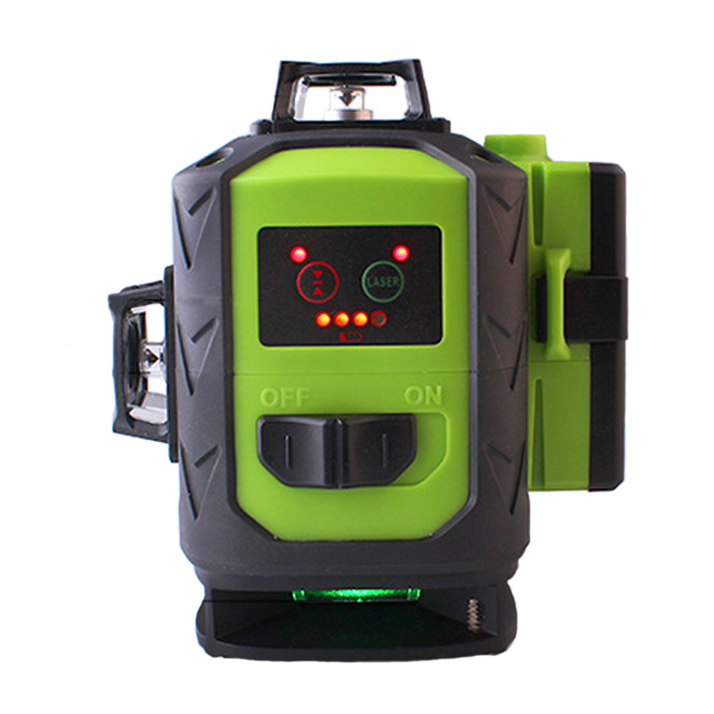 Tools : 2 Pcs Battery Fukuda Professional 16 Line 4D laser level  Green Beam 360 Vertical And Horizontal Self-leveling Cross for outdoor
