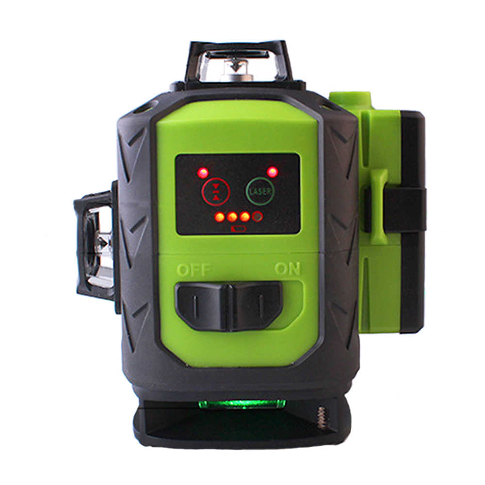 2 adet 4000MAH pil Fukuda 16 hat 4D lazer seviyesi keskin yeşil 515NM ışın 360 dikey ve yatay kendinden tesviye çapraz