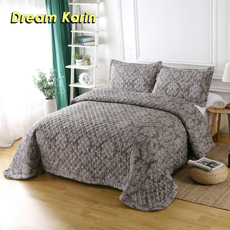 Dream Karin 10 Print Pattern Polyester Quilt European Style Summer Bedspread Coverlet With Pillowcases Home Textile 230*250 CMDream Karin 10 Print Pattern Polyester Quilt European Style Summer Bedspread Coverlet With Pillowcases Home Textile 230*250 CM