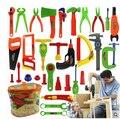 Juguetes educativos del bebé Kit de herramientas niños jugar a las casitas clásico juguete de plástico los niños las herramientas martillo de simulación de la caja Tool Kit juguetes