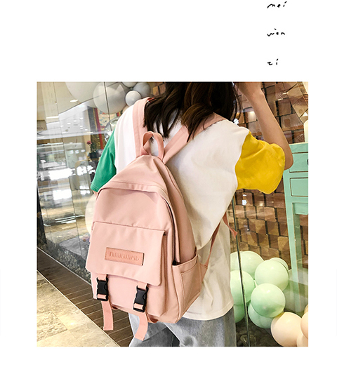 HTB1baOUXuH2gK0jSZJnq6yT1FXac 2019 Backpack Women Backpack Fashion Women Shoulder Bag solid color School Bag For Teenage Girl Children Backpacks Travel Bag