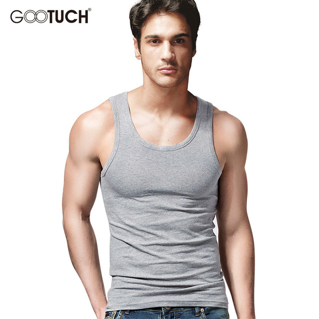 ab7b8787a8ecdb Men Plus Size Cotton Tank Top Tee Shirts Sleeveless Undershirt Fashion  Design Tanks Vest Solid Color Stylish Soft Singlet 5038