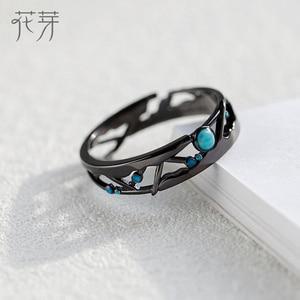 Image 2 - Thaya CZ anillos de plata de ley 925 con Circonia cúbica azul brillante, joyería de Estilo Vintage Retro bohemio para amantes de las mujeres