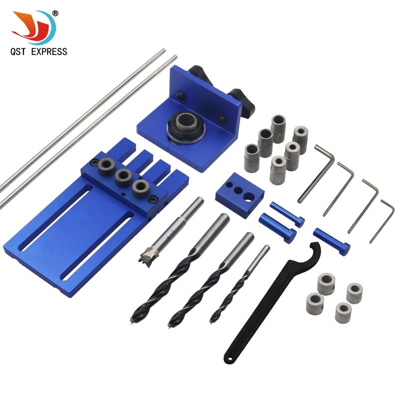 Carpintaria Marcenaria de Alta Precisão Jigs Passador de ferramentas para trabalhar madeira DIY Kit 3 em 1 localizador De Perfuração 08450A guia de perfuração kit