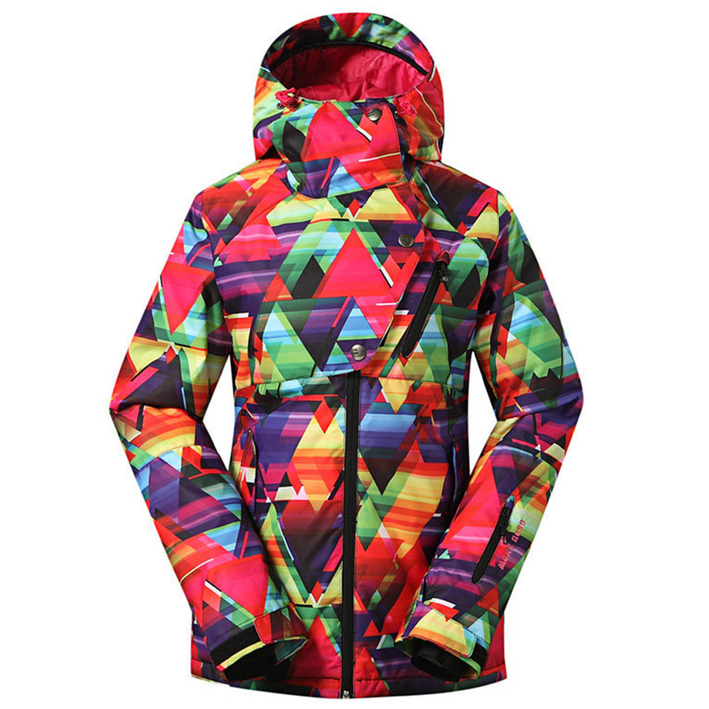 Brand Ski Jacket Women Windproof Waterproof Snowboard Jacket Warm Outdoor Sport Jacket Down Suit Large Size
