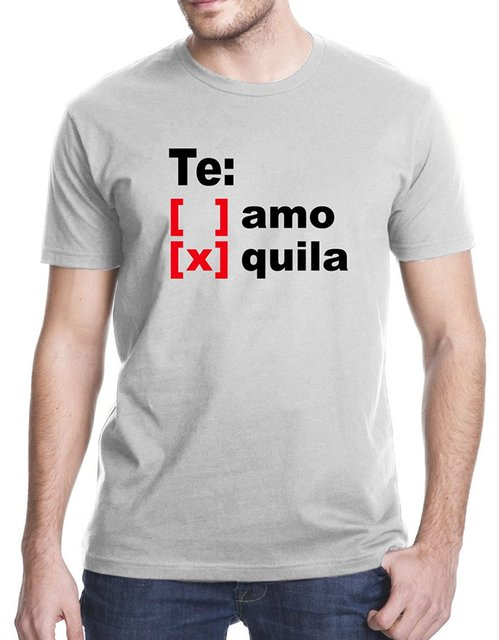 762c814b Te Amo Tequila Alcohol Funny Spanish T Shirt-in T-Shirts from Men's ...