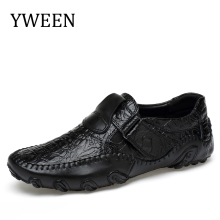 YWEEN big size 38-48 slip on casual men loafers spring and autumn mens moccasins shoes Split leather men's Driving shoes