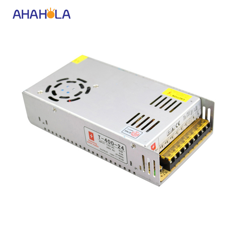 input ac 110v 220v to dc 24v led switching power supply,output 400w  power supply 24v led lights 1200w 12v 100a adjustable 220v input single output switching power supply for led strip light ac to dc