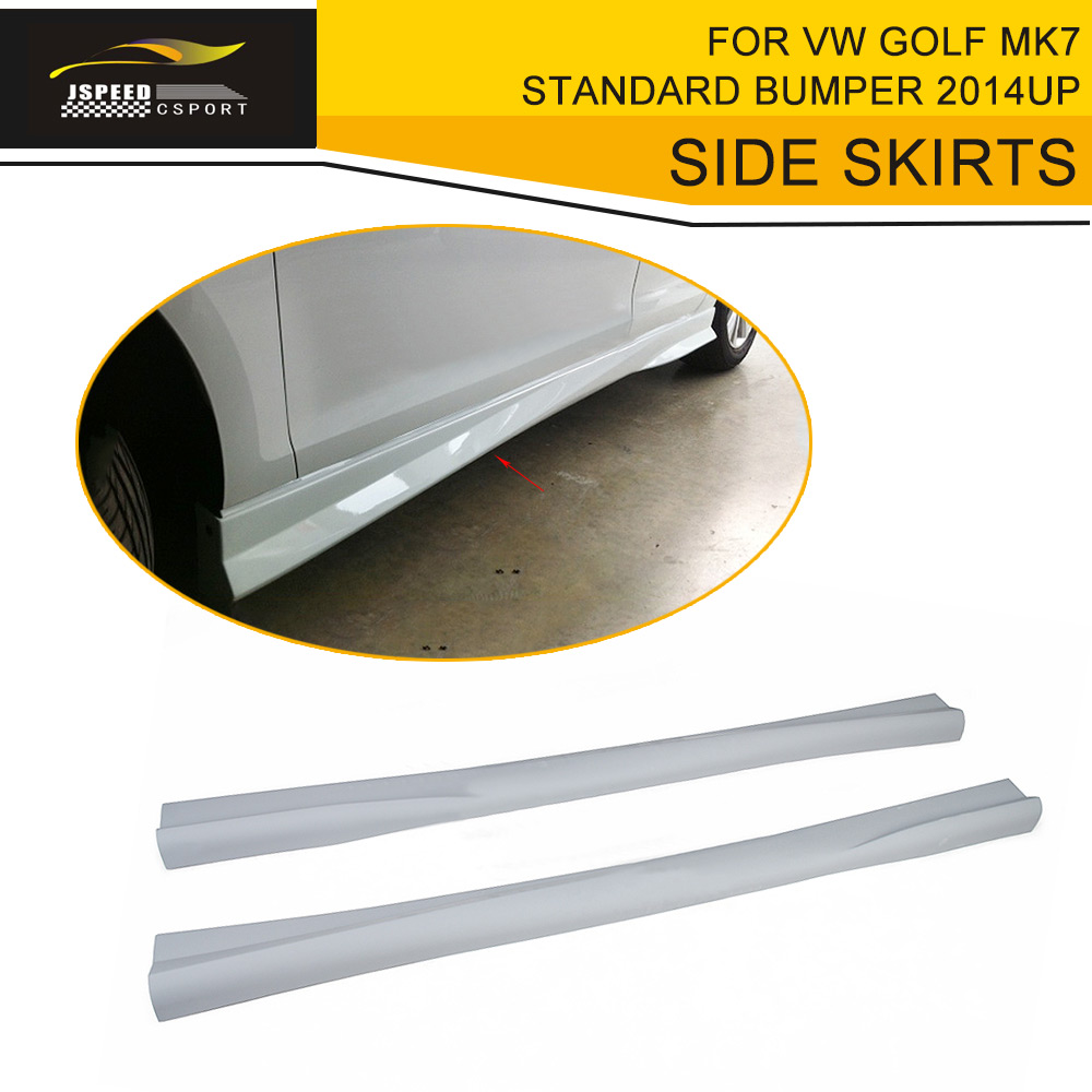 Car Styling FRP Auto Side Skirts Body Aprong For VW Golf MK7 Standard Bumper 2014UP
