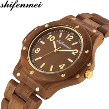 Shifenmei Watches Men Fashion Wooden Weave Contexture Design Bamboo Quartz Watch 2019 Casual Unisex Wristwatches zegarek damski