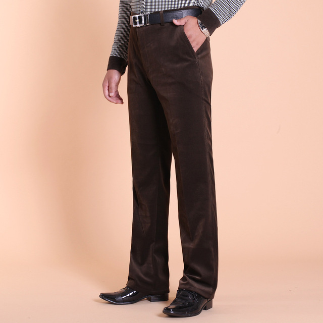 Autumn and winter corduroy trousers casual pants men cultivating pants loose elastic waist overalls men strip Trousers