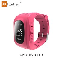 FocuSmart Q50 OLED Child GPS Tracker SOS Smart Monitoring Anti Lost Positioning Phone Kids Watch Safe Baby Watch For IOS & Andro