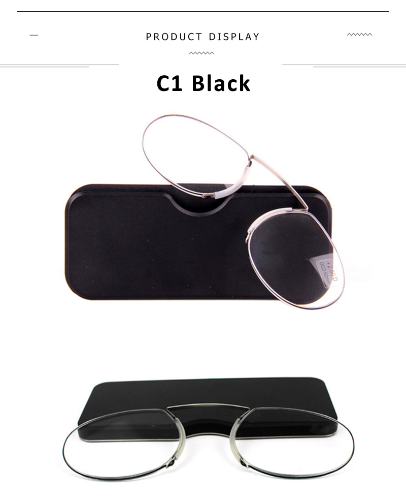 2f799defa0a ... Reader Mini Pince-nez Presbyopic Glasses with Case Diopter 1.0 1.5 2.0  2.5 3.0 3.5. 1 2 3 4