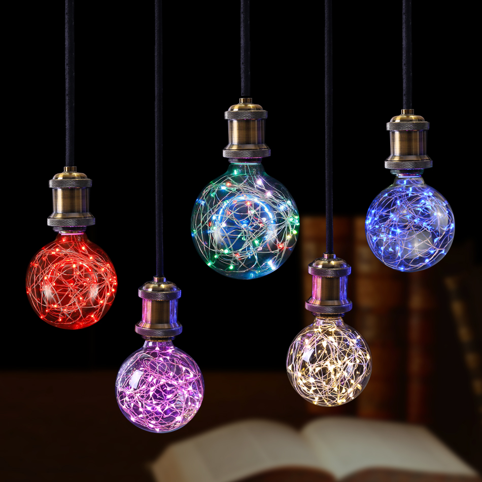 Night lights holiday - 1pcs Vintage Design Fairy Led String Night Light E27 85 265v Rgb Filament Lamp Bulb For Decor Wedding Christmas Holiday Lighting