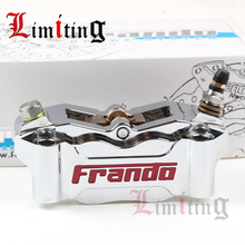 Cheapest prices 32mm*4 pistons Universal Motorcycle Brake Caliper Modified 100mm Motorbike Hydraulic brake pump for front/rear brake system
