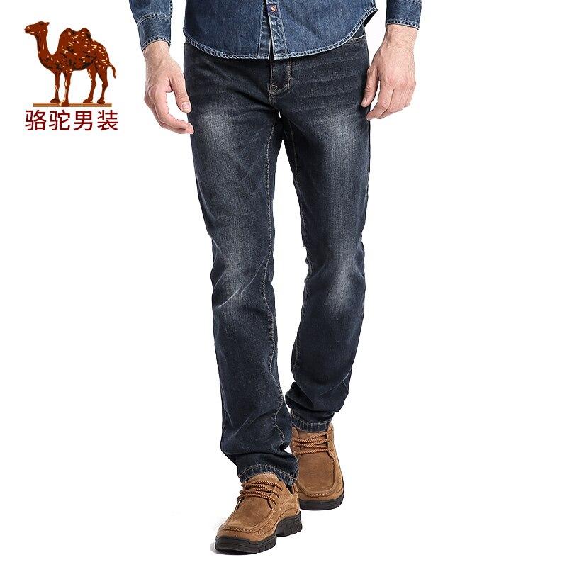 Camel men s jeans 2016 autumn black zipper long trousers male business casual jeans