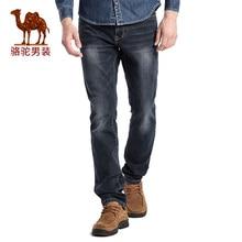 Camel мужские джинсы 2016 осень черная молния длинные брюки мужчины бизнес случайный джинсы
