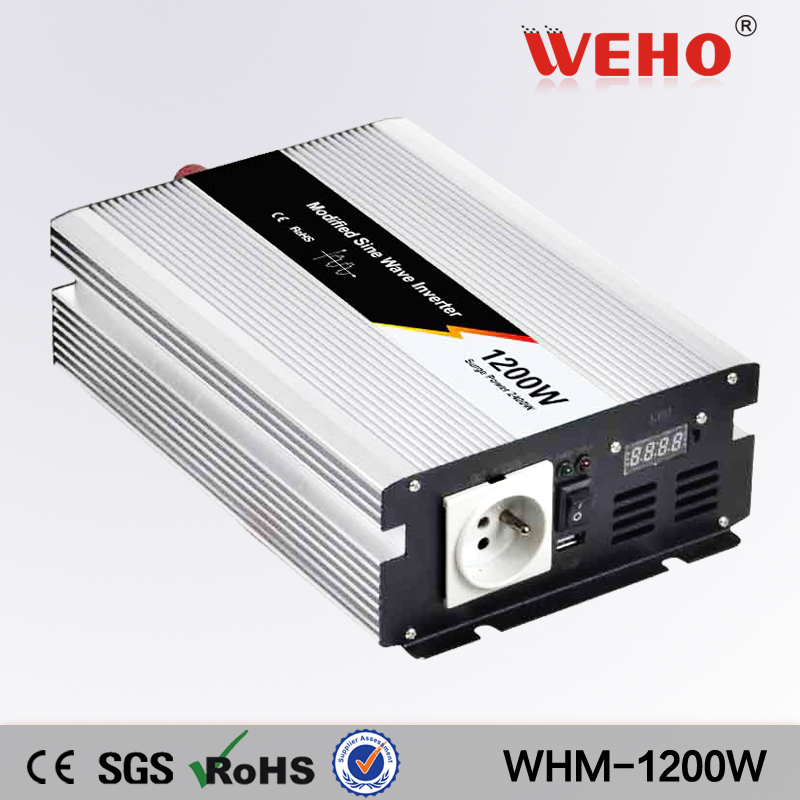 (WHM1200-121) off grid 1200w solar inverter 1200w 12vdc to 110vac Modified sine wave power inverter for home application