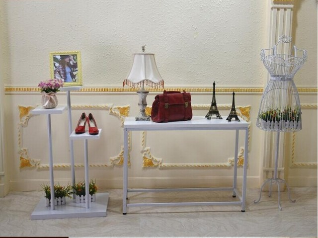 Iron Clothing Rack Clothing Store Display Window Design Showcase Water Table  Level Stands