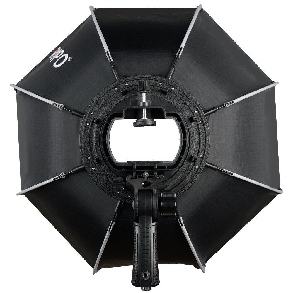 TRIOPO 65 cm plegable Softbox octogonal de caja w/Mango para Godox Yongnuo Speedlite luz Flash de estudio de fotografía Accesorios - 3