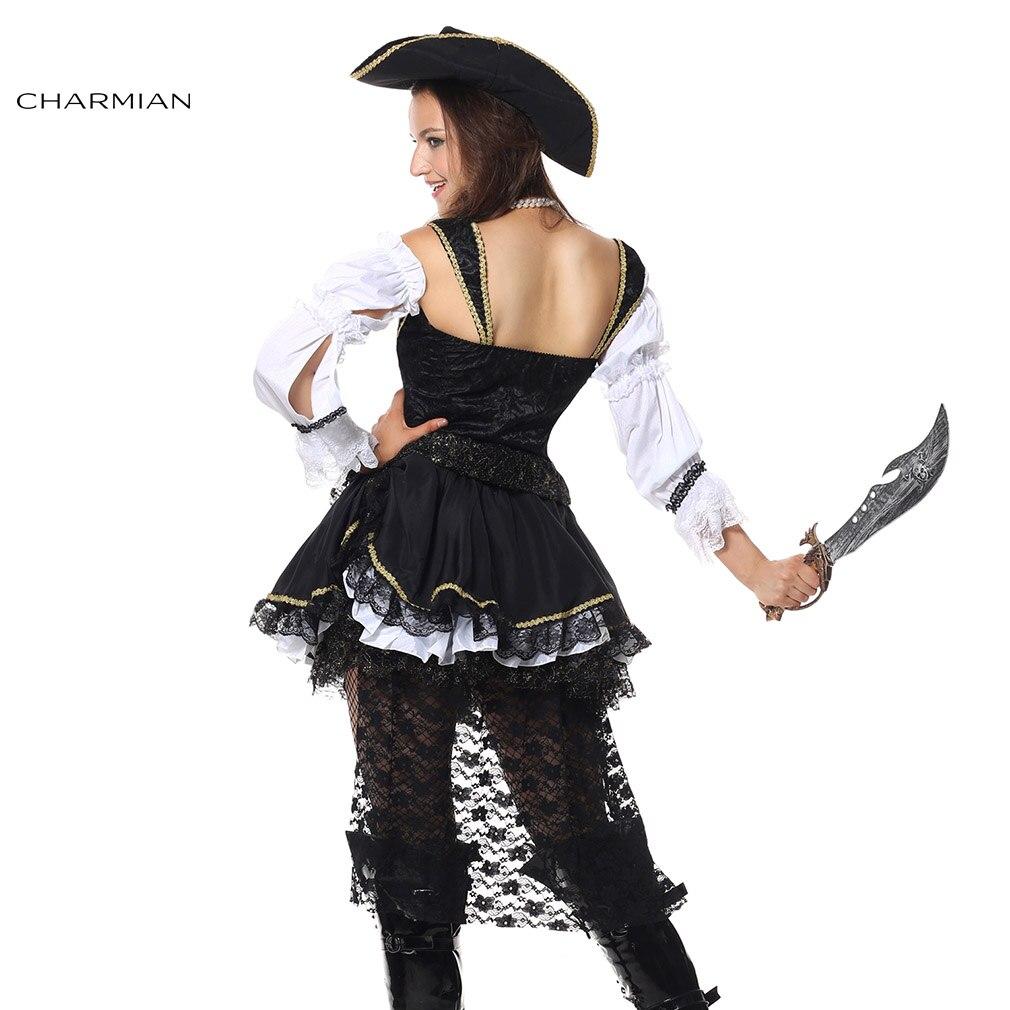 Charmian Womens Deluxe Swashbuckler Anime Halloween Cosplay Costume