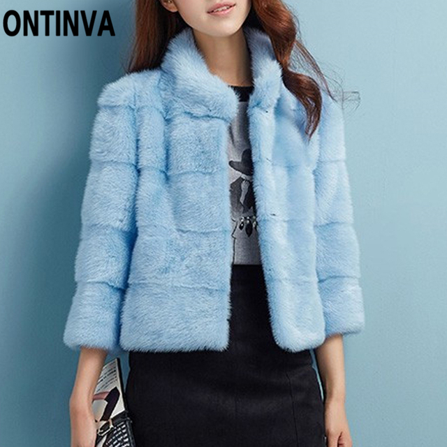 99c773ed6d5 Women Faux Mink Fur Coat Long Sleeve Plus Size 4XL 3XL 2018 Winter Shaggy  Fluffy Jacket Thick Casaco Feminino Clothing Outerwear