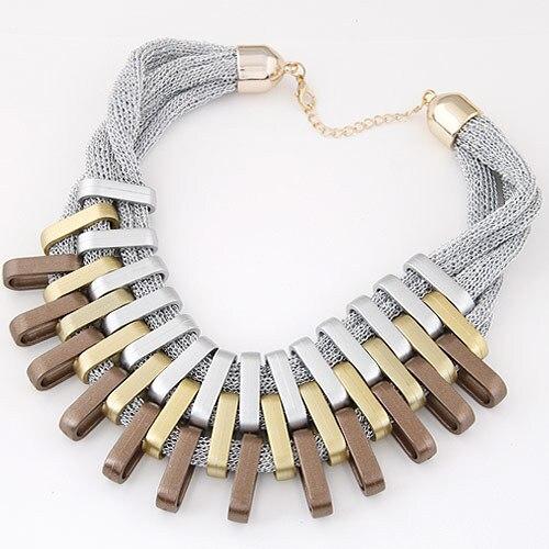 Ziris Women Luxury Jewelry Big Maxi Statement Necklaces Metal Net Chain Choker Collier Femme Women Christmas Gift
