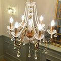 Led Rustikale vintage Kronleuchter für Esszimmer Schlafzimmer Lampe Italien stil antiken eisen hängen Beleuchtung Kristall kronleuchter lampada-in Kronleuchter aus Licht & Beleuchtung bei