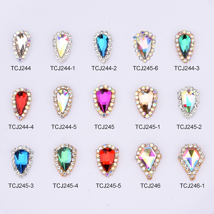 10pcs Crystals ongles 3d nail stone strass nails decorations new arrive korean metal nail art jewelry charms supplies TCJ244